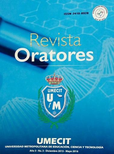 Revista Oratores - No. 3 - Diciembre 2015 - Mayo 2016