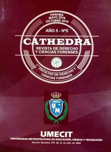 Cathedra No. 5 Año 5 - Mayo 2016 - Octubre 2016